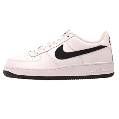 NIKE AIR FORCE 1 GS WHITE/BLACK-TEAM ORANGE 596728-182 (4